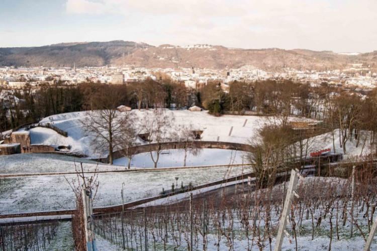 Amphitheater im Winter (© Walter Baumeister)