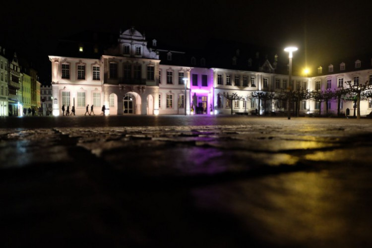 Domfreihof bei Nacht