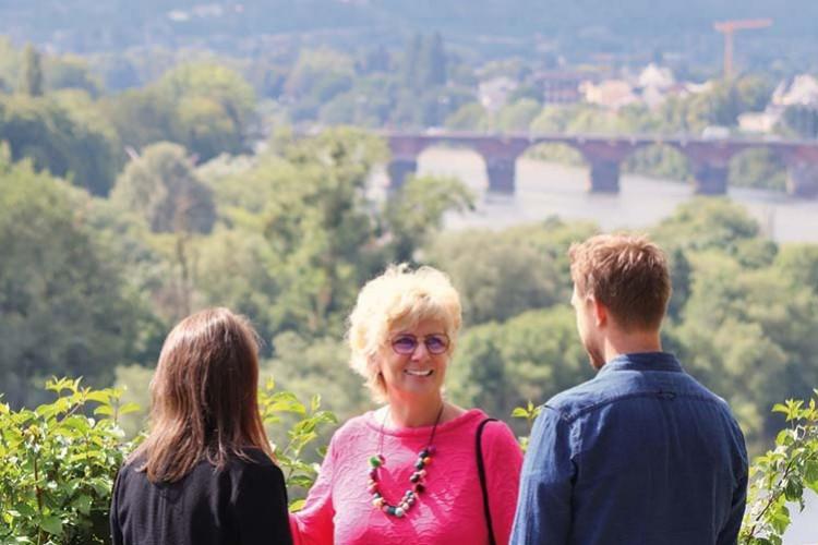 Römerbrücke, Aussicht vom Weishauswald
