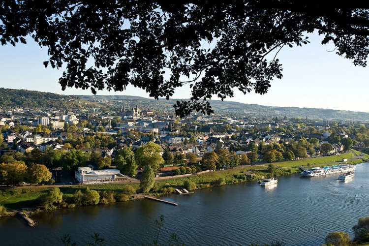 View onto the Moselle and the City of Trier