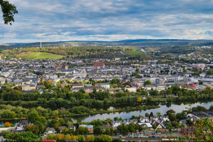 Blick auf die Trierer Innenstadt von der Mariensäule (© Carmen Müller)