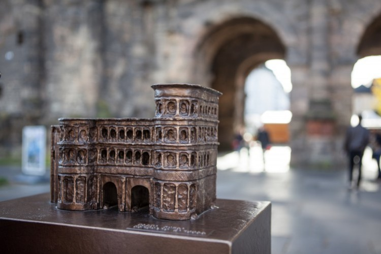 Model of the Porta Nigra, symbol of the city of Trier - © ttm