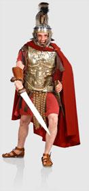 Gladiator Valerius im Amphitheater Trier